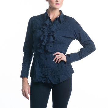 Georg Roth Navy Blouse
