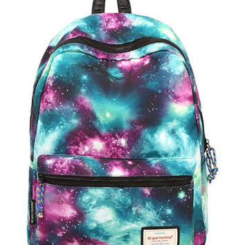 Galaxy Pattern Casual Backpack Daypack Travel Bag