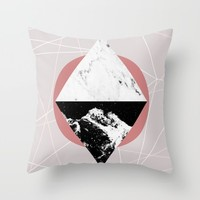 Geometric Textures 3 Throw Pillow by Mareike Böhmer Graphics