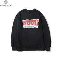 VERSACE Casual Long Sleeve Pullover Top Sweatshirt
