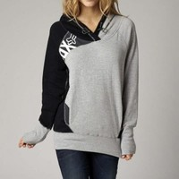 Fox Racing Escalate Womens Pullover Hoodie Sweatshirt Heather Grey | Fox Racing Womens Sweatshirts at Bob's Cycle Supply | Bob's Cycle Supply