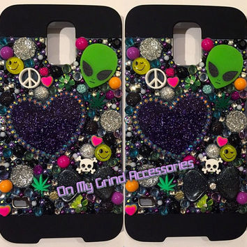 Phone Case -- Galaxy S5 -- Intergalactic Midnight Kawaii Confetti