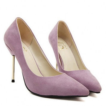 Graceful solid color slim heel design women pumps YS-C5005