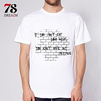 men t-shirt music band rock n roll Men's Tops Tees Collar Men Casual Short-Sleeved T Shirts