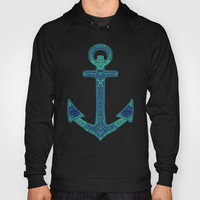 Anchor; ornate anchor Hoody by Barruf
