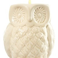 Ceramic Filled Candle Owl