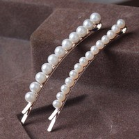 Imitation Pearls Girls Hairpins Two Size Beads Hair Clip Sets Fashion Girls Hair Accessories