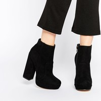 New Look Platform Block Heel Ankle Boot