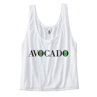 Avocado T Shirt - Womens Flowy Boxy Tank Top - Vegetarian shirt , workout shirt, fitness shirt, yoga shirt