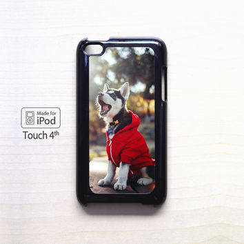 Cute Husky Puppy for Ipod 4/Ipod 5 apple case