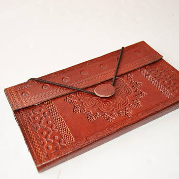 leather album for business cards, African style leather cover card holder