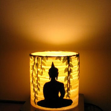 Meditating Buddha Lamp