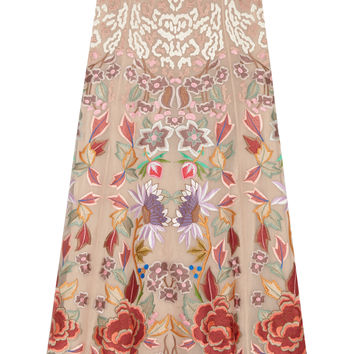 Temperley London - Baudelaire embroidered silk-organza maxi skirt
