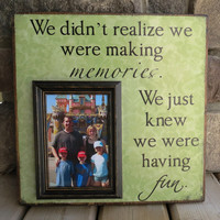 Personalized Picture Frame - Family, Memories, Love, Anniversary, Birthday, Grandparents, Godparents, Fathers Day