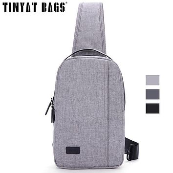 Chest Bags For Men Travel Crossbody Bag Black Messenger Bag Waterproof Nylon Sling Bag For Ipad Handbag