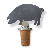 Slate Cork Topper Pig by Sparq