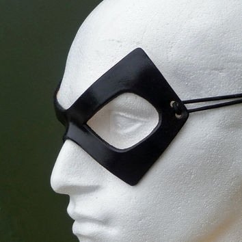 THE COMEDIAN Mask in Leather. Designed & Hand Crafted in Wales.