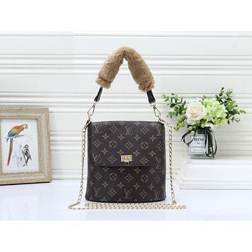 LV Fashion Full Print Colour Lady's Single Shoulder Bag LV pattern coffee
