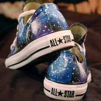 Blue and Purple Galaxy Shoes Converse by kaitlynferruggia on Etsy