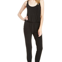 DailyLook: Classic Knit Jumpsuit in Black XS - S