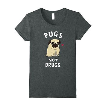 Men Women Young - Pugs Not Drugs Funny T-Shirt