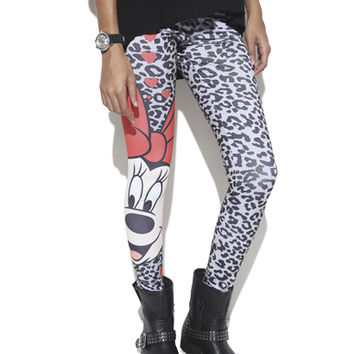 Minnie Mouse Printed Legging | Shop Just Arrived at Wet Seal
