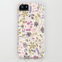 Vintage Blooms iPhone & iPod Case by Anna Deegan
