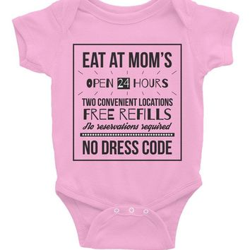 Eat at Mom's Onesuit | pink