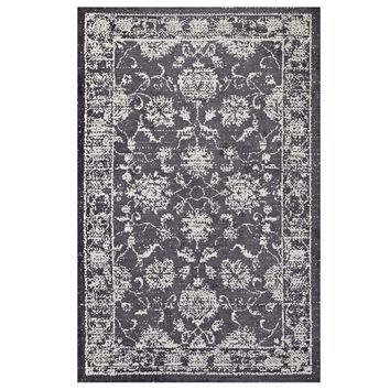 Kazia Distressed Persian Medallion 5x8 Area Rug