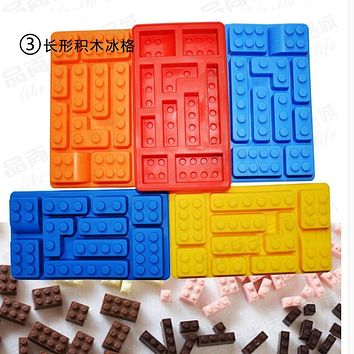 Silicone Ice Tray Cake Mold Creative Robot Ice Cream Tubs Robot Silicone Chocolate Fondant Mold soap mold Ice Cream Tools