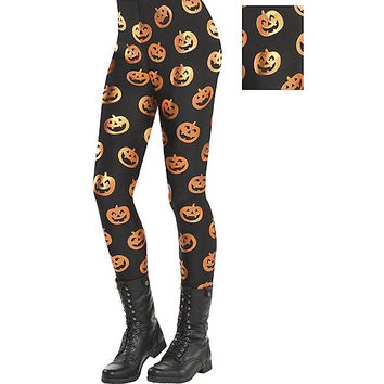 Adult Jack-o'-Lantern Leggings