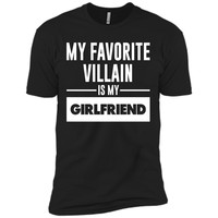 My Favorite Villain is My Girlfriend Funny Graphic T-shirt T-Shirt