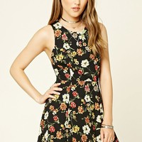 Floral Print Tie-Back Dress