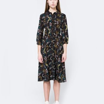 Farrow / Button Down Floral Dress