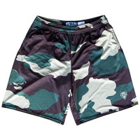 Hunter Camo Lacrosse Shorts