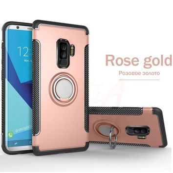 Shockproof Phone Case For Samsung Galaxy w/ Metal Holder