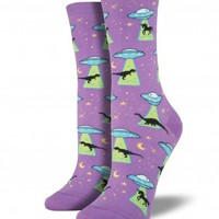 Socksmith Women's Novelty Crew - UFOs - Cotton/Lycra Blend