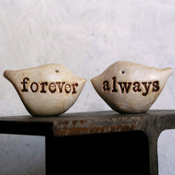 Wedding cake topper...Love birds... forever always