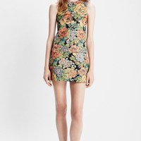 Women's Saint Laurent Floral Brocade Dress
