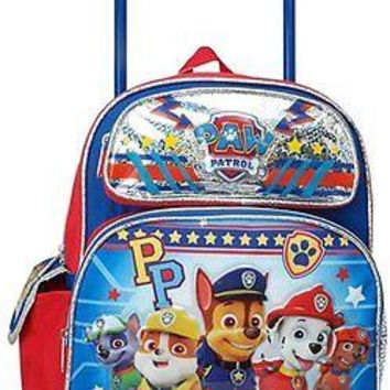 "Nickelodeon Paw Patrol 12"" Toddler Mini Rolling Backpack"