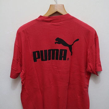 25% OFF Vintage PUMA T Shirt Red Color Size L