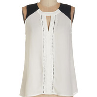 ModCloth Colorblocking Mid-length Sleeveless Composer Composure Top