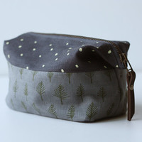 Trees & Stars Dopp Kit by jennarosehandmade on Etsy