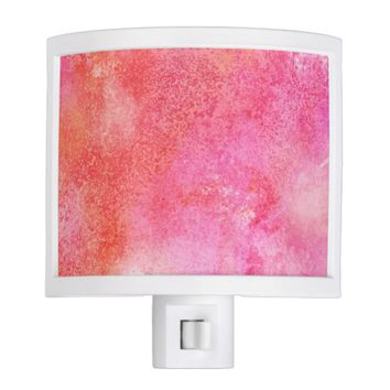 Marble Effect Pink and Orange Bathroom Night Light