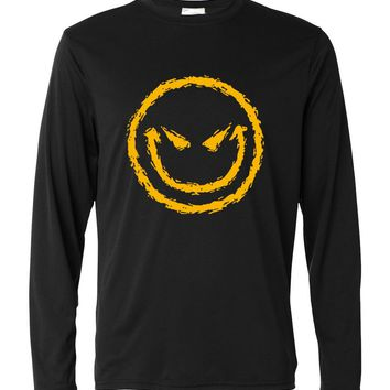Mma kpop Smiley Face long sleeve T-shirt 2017 spring autumn fashion streetwear tee shirt homme men funny harajuku brand clothing