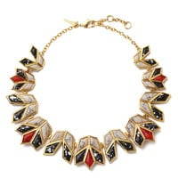 LeLe Sadoughi Lotus Necklace - Bib Necklace - ShopBAZAAR