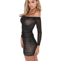 Strapless Mini Tight Dress