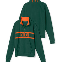University of Miami Boyfriend Half Zip - PINK - Victoria's Secret