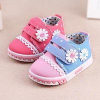 Insole 11cm-13cm Fashion Baby Girls Shoes Kids Sports Sneakers Infant Sapatos Newborn Canvas Shoes