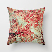 Autum Inkblot Throw Pillow by Olivia Joy StClaire | Society6